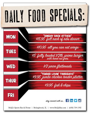Daily Food Specials Button